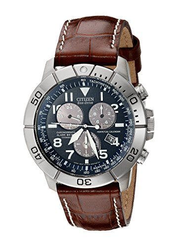 Titanium Eco-Drive Watch with Leather Band